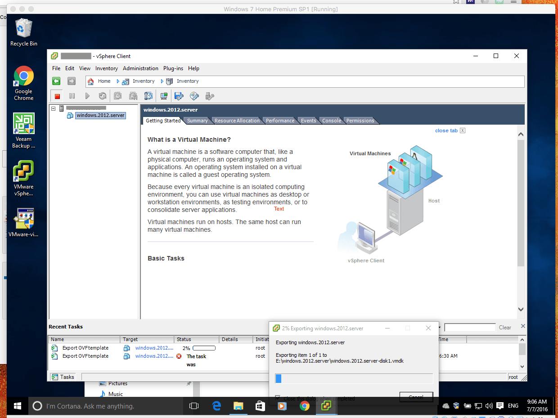 mirageglobe › Extracting OVF from VMware ESXI 6 0
